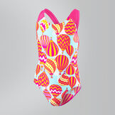 Colour Pops Splashback Badeanzug mit Allover-Print