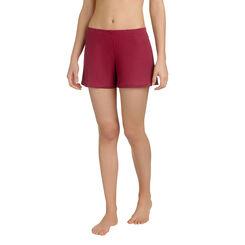 Short de pyjama rouge en lyocell Femme-DIM