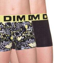 Lot de 2 boxers noir et vert imprimé Street Art DIM Boy-DIM