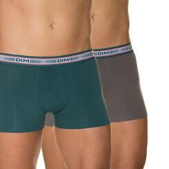 Lot de 2 boxers gris foncé et vert foncé 3D Flex-DIM