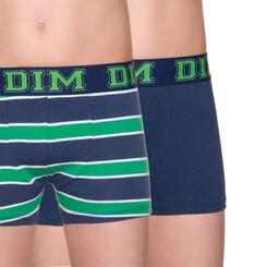 Lot de 2 boxers à rayures coloris bleu caban DIM Boy-DIM