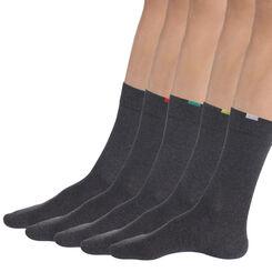 Lot de 5 paires de chaussettes gris moyen Homme EcoDim-DIM
