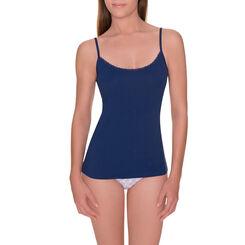 Caraco bleu ombre coton stretch Les Pockets-DIM