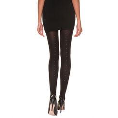 Collant DIM Signature noir couture perlée 70D-DIM