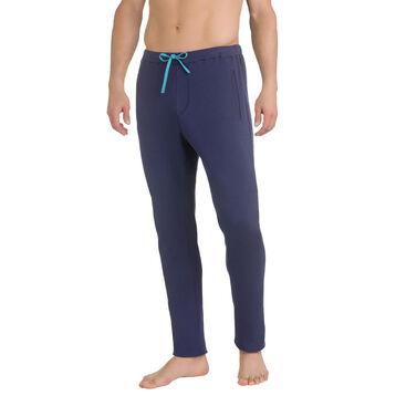 Pantalon de pyjama bleu marine 100% coton Homme-DIM