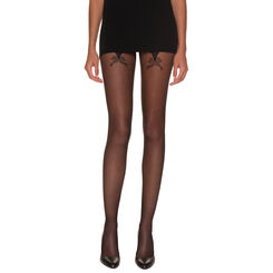 Collant So Sexy nœud couture noir 20D-DIM