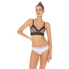Slip blanc en coton dentelle Sexy Fashion-DIM