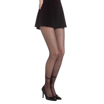 Collant noir effet socquettes Madame So Chic 20D-DIM