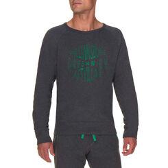 Sweatshirt de pyjama gris anthracite Homme-DIM