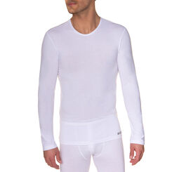 T-shirt blanc manches longues Thermal Effect-DIM