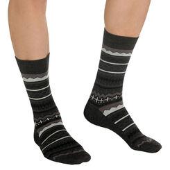 Chaussettes noires au motif nordique Homme-DIM