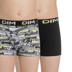 Lot de 2 boxers noir et imprimé EcoDIM en coton - DIM Boy-DIM