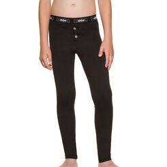Caleçon long noir coton stretch - DIM Boy-DIM