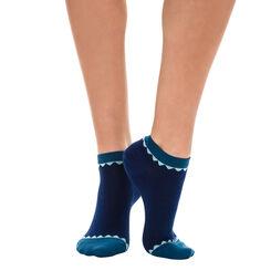 Socquettes invisibles bleu à motif écaille Femme-DIM