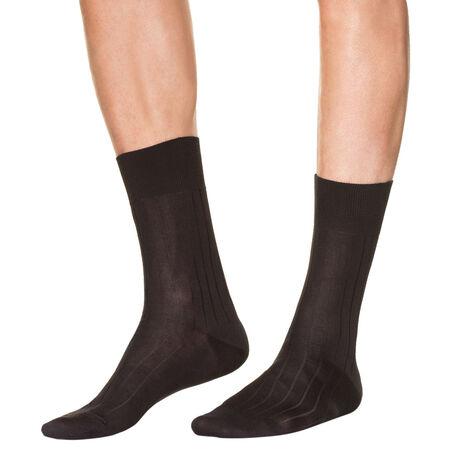 lot de 2 chaussettes noires en fil d 39 ecosse homme. Black Bedroom Furniture Sets. Home Design Ideas