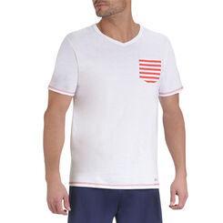 T-shirts de pyjama manches courtes blanc à poche Homme-DIM