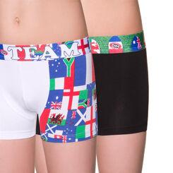 Lot de 2 boxers blanc et noir édition rugby DIM Boy-DIM
