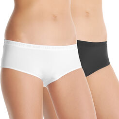 Lot de 2 shorties blancs en microfibre - DIM Girl-DIM