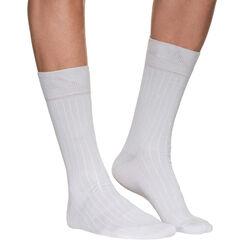 Mi-chaussettes beige clair à côtes Homme-DIM