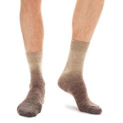 Chaussettes marrons en laine effet dégradé Homme-DIM