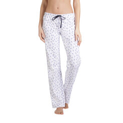 Pantalon de pyjama blanc imprimé ancres Femme-DIM