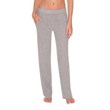 Pantalon de pyjama gris chiné Femme-DIM