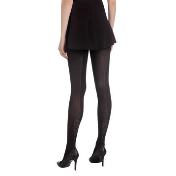Collant noir couture baroque Madame So Chic 40D-DIM