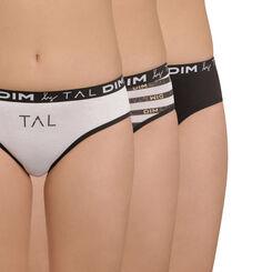 Lot de 3 culottes blanche et noire DIM by TAL - DIM Girl-DIM