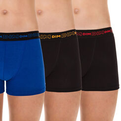 Lot de 3 boxers bleu et noirs Dynamic DIM Boy-DIM