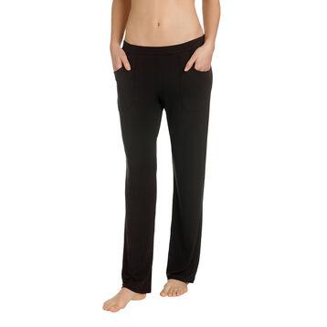Pantalon de pyjama noir en modal Femme-DIM