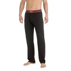 Pantalon de pyjama noir en coton stretch Homme-DIM