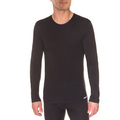 T-shirt noir manches longues Thermal Effect-DIM