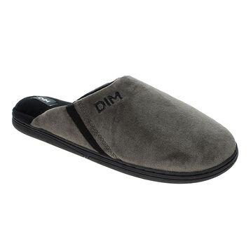 Chaussons pantoufles taupe Homme-DIM