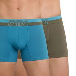Lot de 2 boxers bleu et vert Soft Touch Pop-DIM