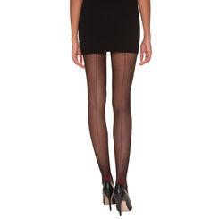 Collant DIM Signature noir et bordeaux couture dentelle 20D-DIM