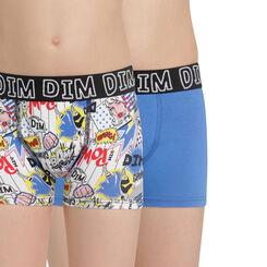 Lot de 2 boxers bleu électrique et imprimé Comics DIM Boy-DIM