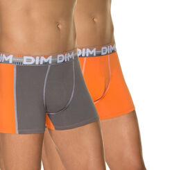 Lot de 2 boxers mandarine, bleu, gris 3D Flex Dynamic-DIM
