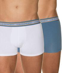 Lot de 2 boxers blanc et bleu grisé 3D Flex-DIM