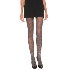 Collant noir et beige imprimé léopard Madame So Fashion 30D-DIM