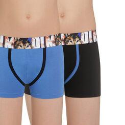 Lot de 2 boxers bleu et noir ceinture Wolf DIM Boy-DIM