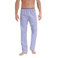 Pantalon de pyjama à carreaux bleus et blancs Homme-DIM