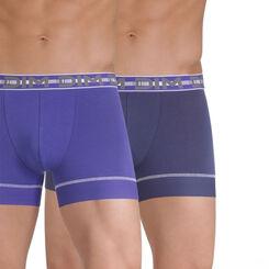 Lot de 2 boxers bleu nuit et bleu roi 3D Stay & Fit-DIM