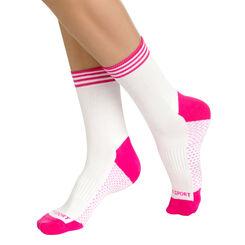 Lot de 2 paires de socquettes de sport blanches Femme-DIM