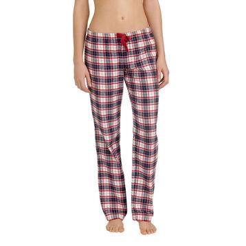 Pantalon de pyjama à carreaux 100% coton Femme-DIM