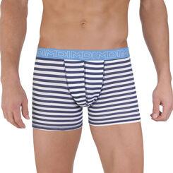 Boxer rayures bleu marine DIM Line en coton stretch-DIM