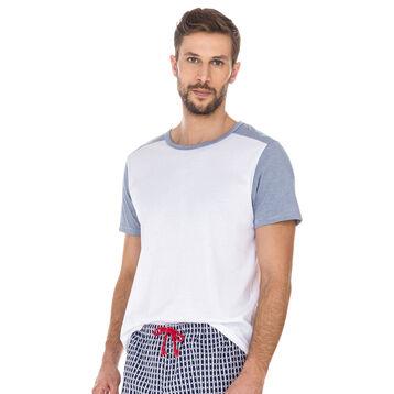 T-shirt de pyjama blanc et imprimé 100% coton Homme-DIM