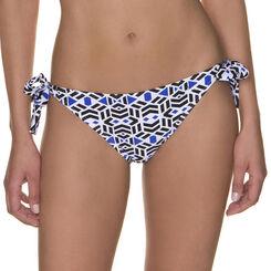 Bas de maillot de bain noir, bleu et blanc Femme-DIM