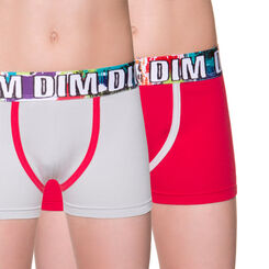 Lot de 2 boxers rouges Multico DIM Boy-DIM