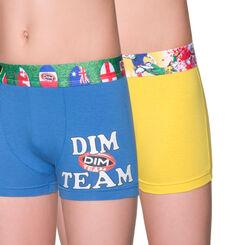Lot de 2 boxers bleu et blanc édition rugby DIM Boy-DIM