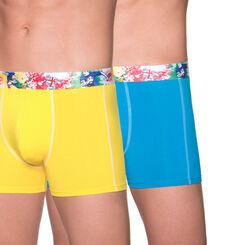 Lot de 2 boxers jaune et bleu 3D Flex Dynamic rugby-DIM